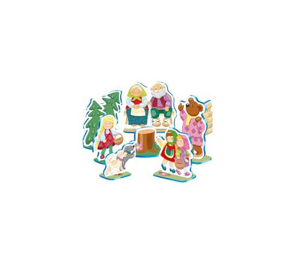 Кукольный театр Десятое Королевство настольный Машенька и Медведь