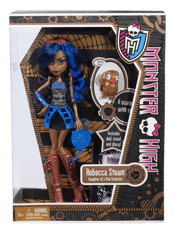 Купить Кукла Monster High Робека Стим - Базовая с питомцем X3652, Классические куклы