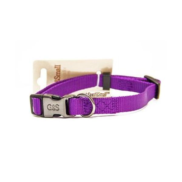 Ошейник для собак GREAT#and#SMALL 10x200-350мм нейлон Фиолетовый
