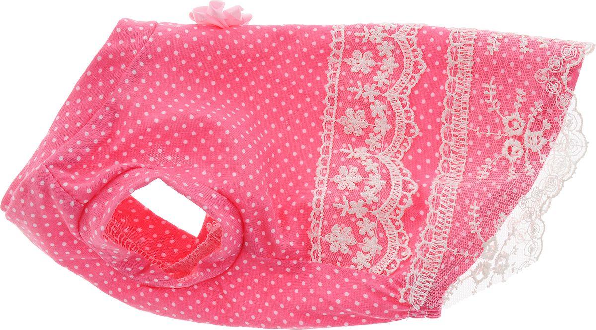 Платье для собак HAPPY PUPPY Шатель розовый 3 28см.