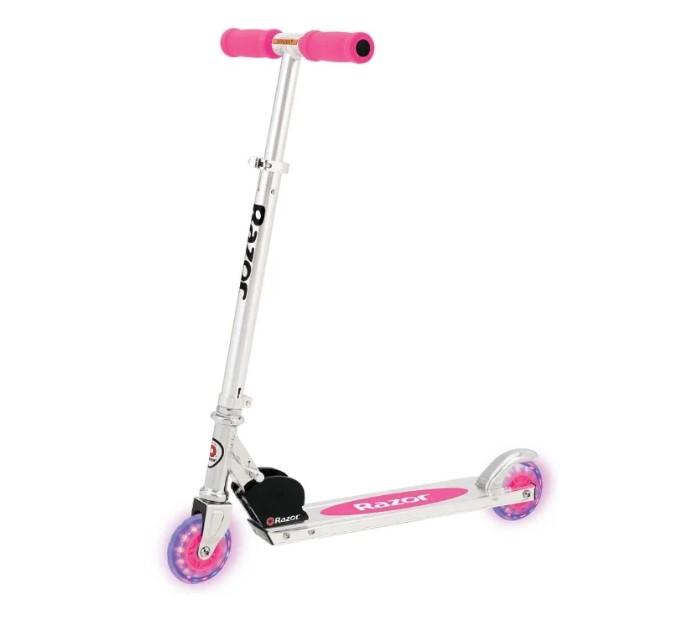 Купить Самокат Razor A Light Up розовый, Самокаты детские двухколесные