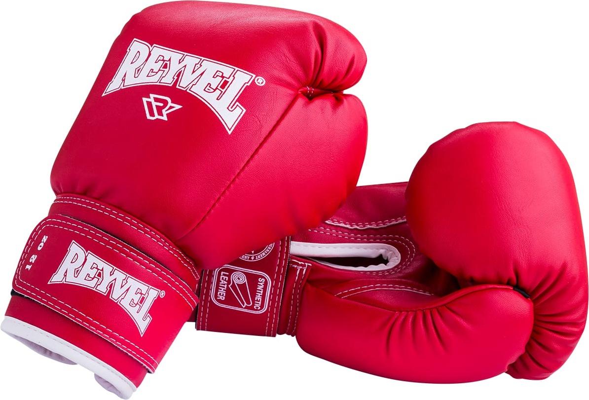 Боксерские перчатки Reyvel RV 101 красные