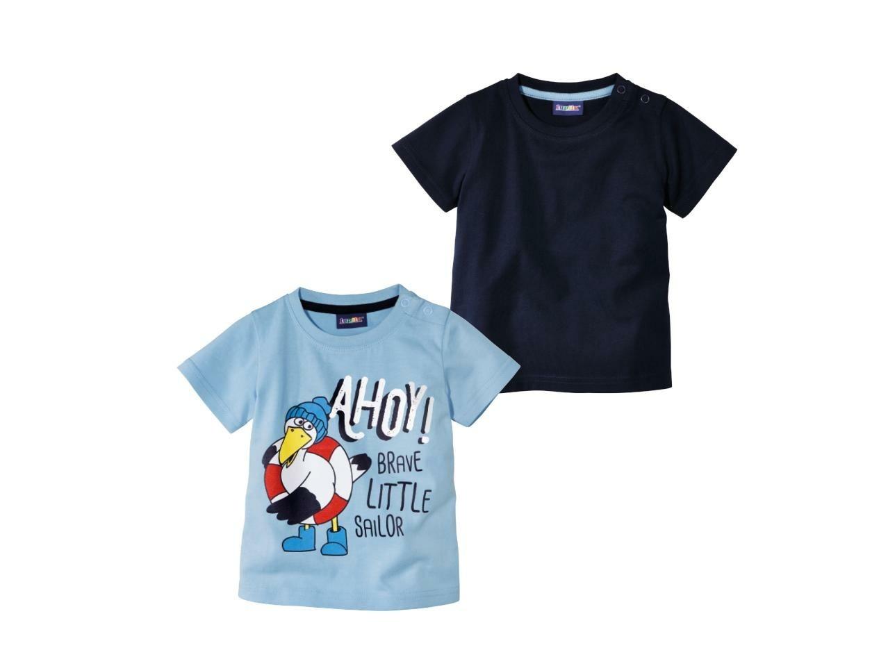 Купить Футболка для мальчика Lupilu 2 шт. р.62-68 синий, Детские футболки, топы