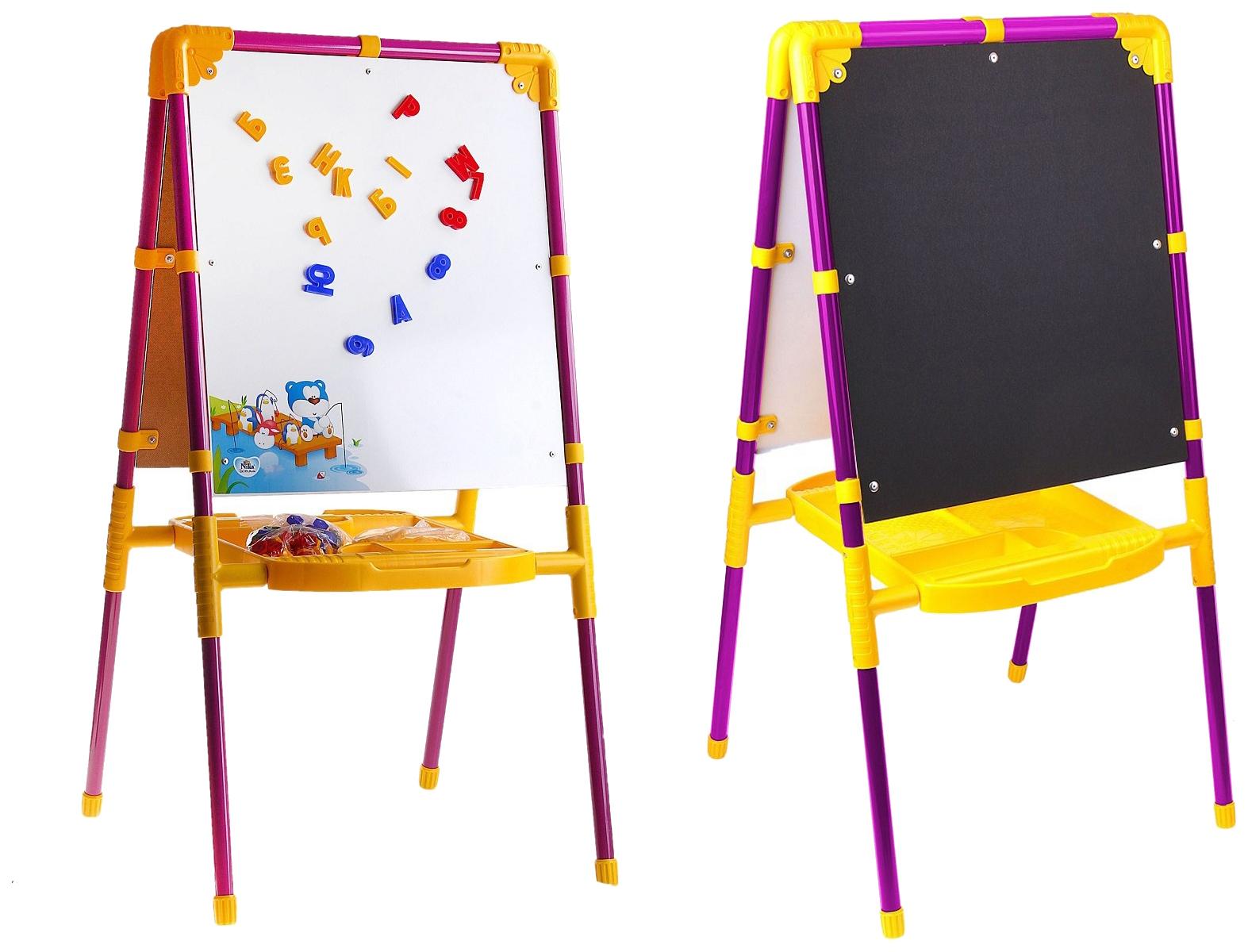 Мольберт для рисования Nika Kids Растущий М2Л/СН сиреневый