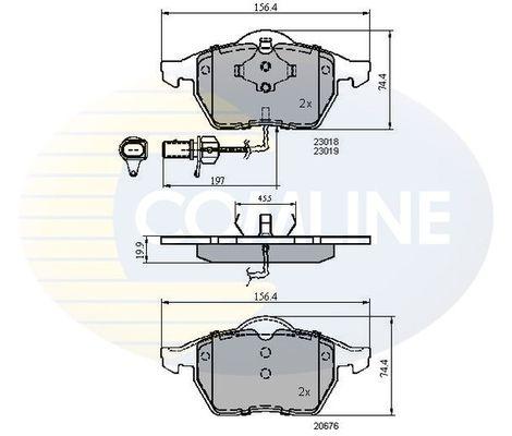 Комплект тормозных колодок, дисковый тормоз COMLINE CBP11025