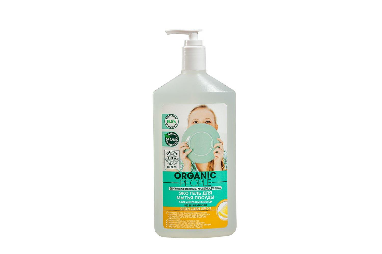 Купить Средство для мытья детской посуды ORGANIC PEOPLE Green clean лимон 500 мл,