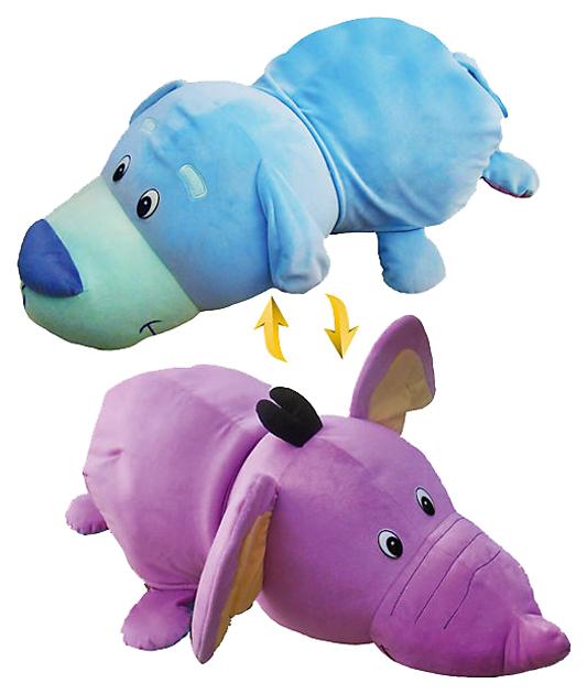 Игрушка Вывернушка Голубой щенок Фиолетовый слон Т12334, 1 TOY, Мягкие игрушки животные  - купить со скидкой