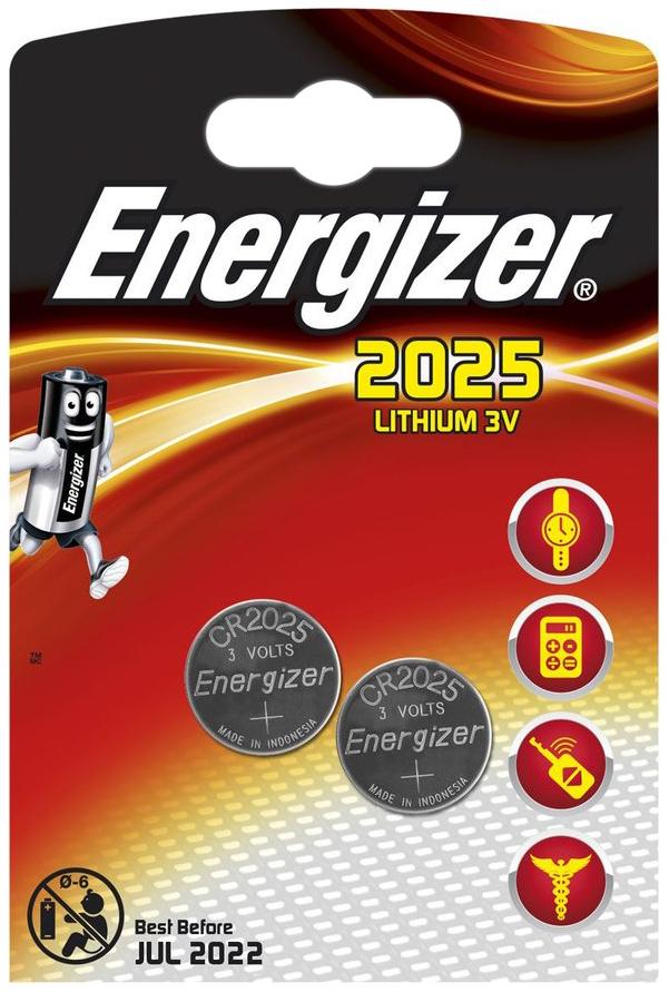 Батарейка Energizer CR2025 2 шт