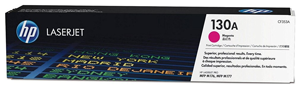 Картридж для лазерного принтера HP 130A LaserJet, пурпурный CF353A