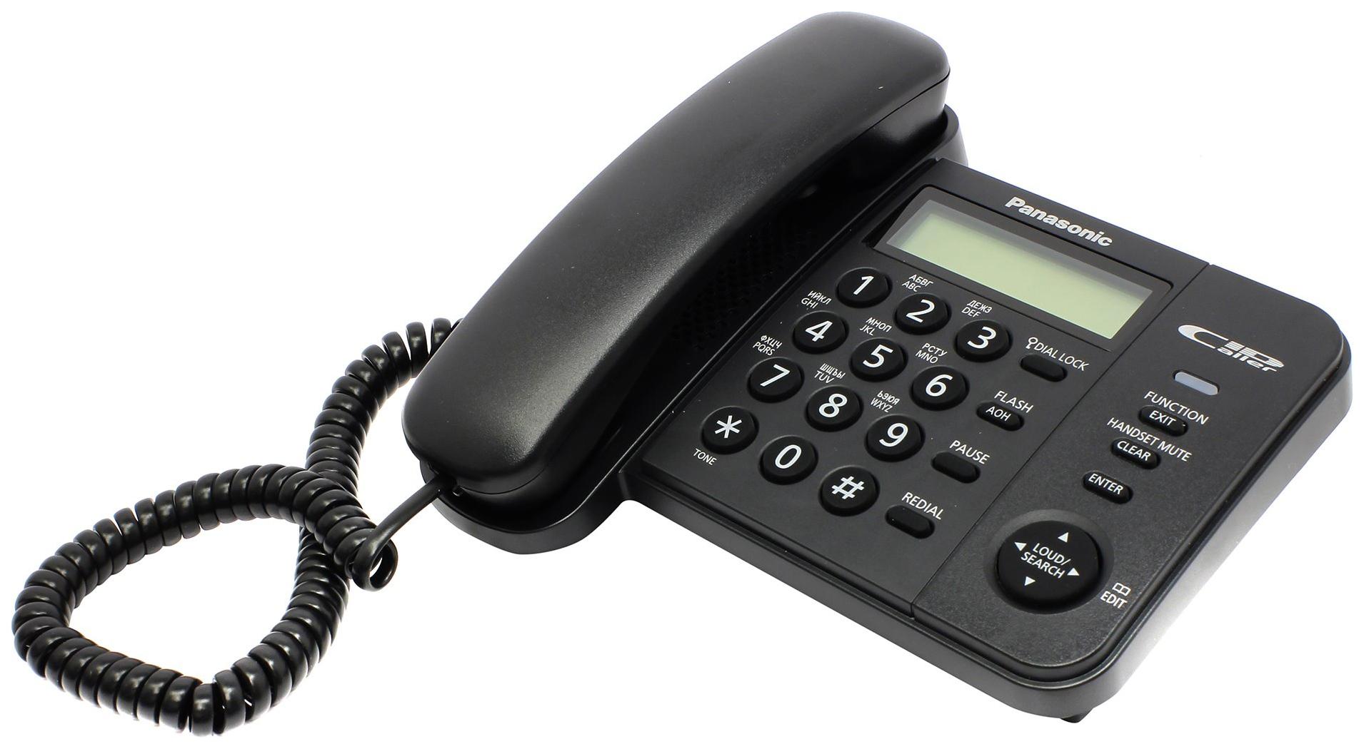Проводной телефон Panasonic KX TS2356 черный