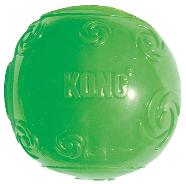 Жевательная игрушка  для собак KONG Мячик средний с пищалкой, 6 см