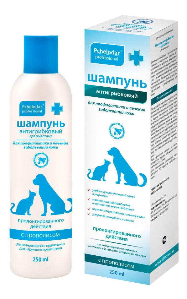 Шампунь для кошек и собак Pchelodar Антигрибковый, пироктоноламин, 250 мл