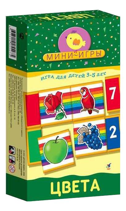 Купить Животные в зоопарке, Настольная мини-игра Дрофа-Медиа Цвета, Семейные настольные игры
