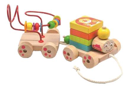 Деревянная игрушка для малышей из дерева Паровозик Чух-Чух игровой набор фото