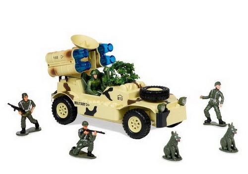 Купить Военный джип с радаром и ракетной установкой MIOSHI MAR1207-005 30 см., Радиоуправляемые машинки