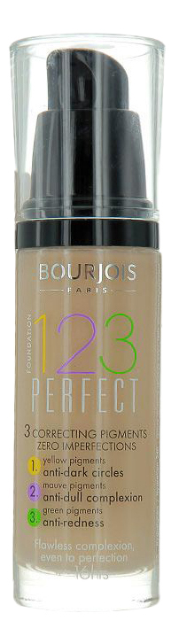 Купить Тональный крем 123 Perfect , 30 мл, тон 52, тональный крем '123 Perfect', Bourjois