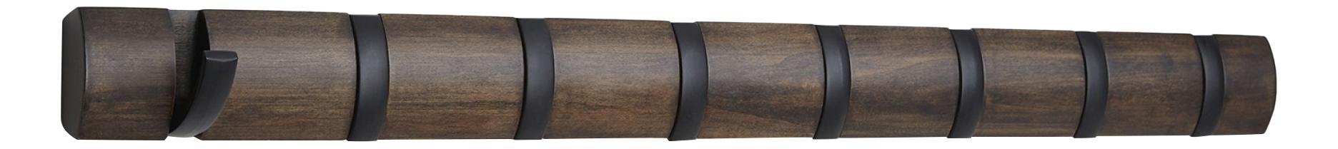 Вешалка настенная Umbra Flip 8 крючков черная/орех