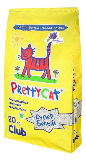 Комкующийся наполнитель для кошек PrettyCat Супер белый бентонитовыйаванда, 20 кг, 80 л фото