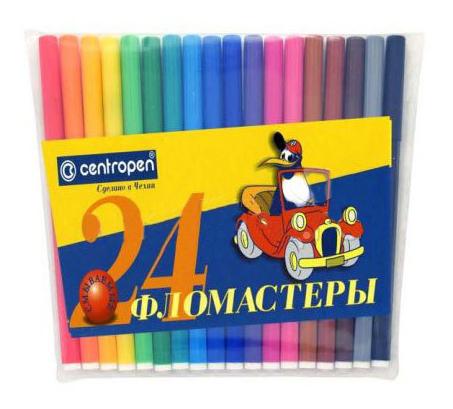 Фломастеры Centropen Пингвины 24 цвета