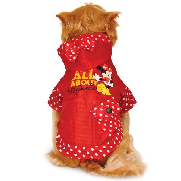 Дождевик для собак Triol размер S женский, красный, длина спины 25 см фото