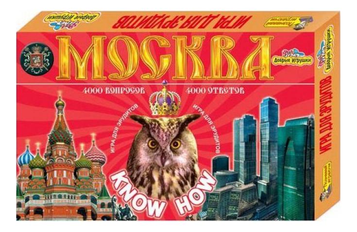 Семейная настольная игра ИгриКо Эрудит Москва