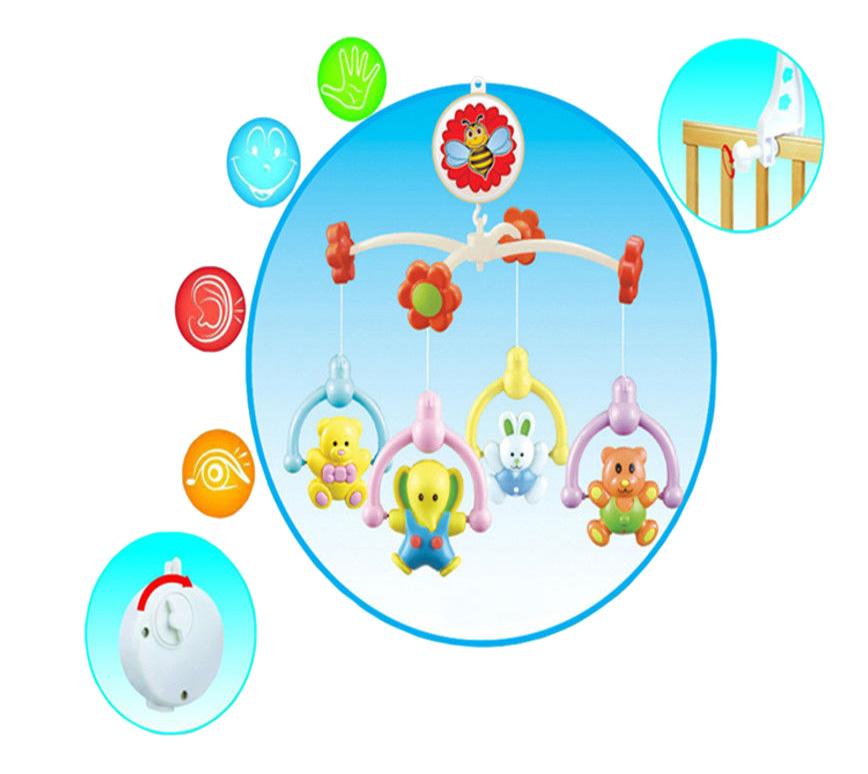 Мобиль механический YAKO Toys Музыкальная карусель Зверята