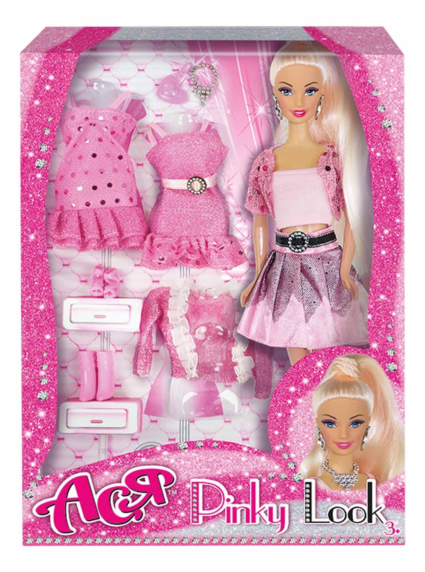 Кукла Ася Блондинка в розовом Розовый стиль