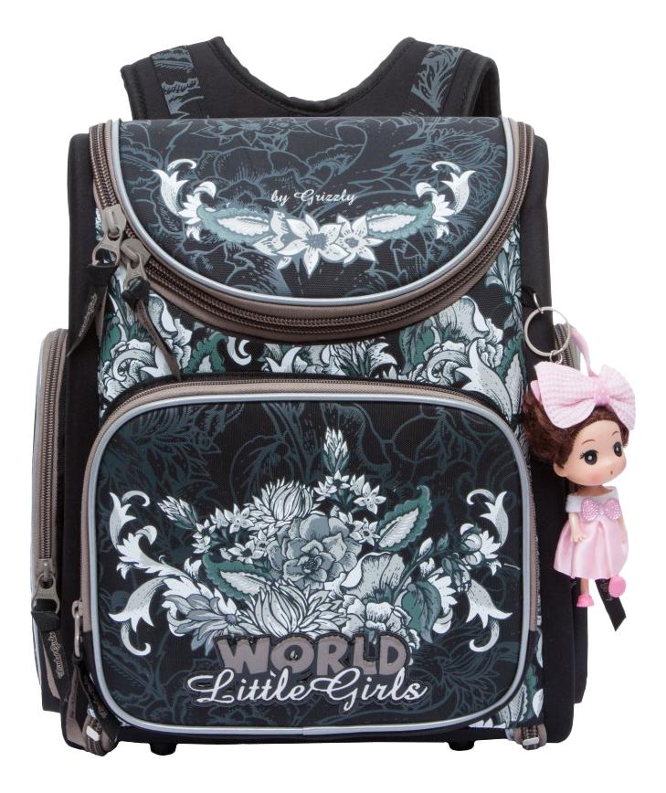 Рюкзак детский Grizzly RA-771-3 школьный черный