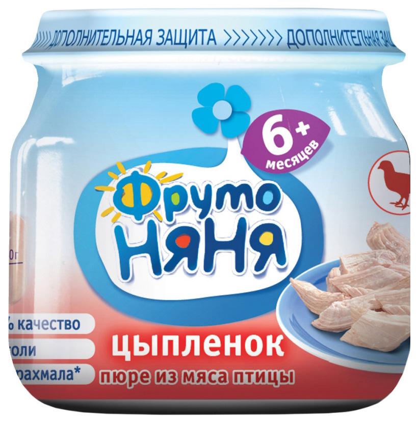 Купить Цыпленок 80 г, Пюре мясное ФрутоНяня Цыпленок с 6 мес 80 г, Детское пюре