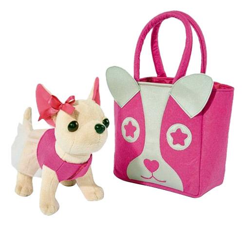 Купить Игровой набор Chi Chi Love собачка Чихуахуа с розовой сумкой 5897403, Simba, Игровые наборы