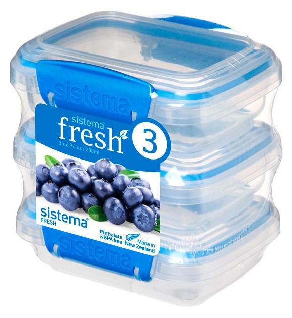 Набор контейнеров для СВЧ Sistema Pack Fresh 921523 Синий; Прозрачный