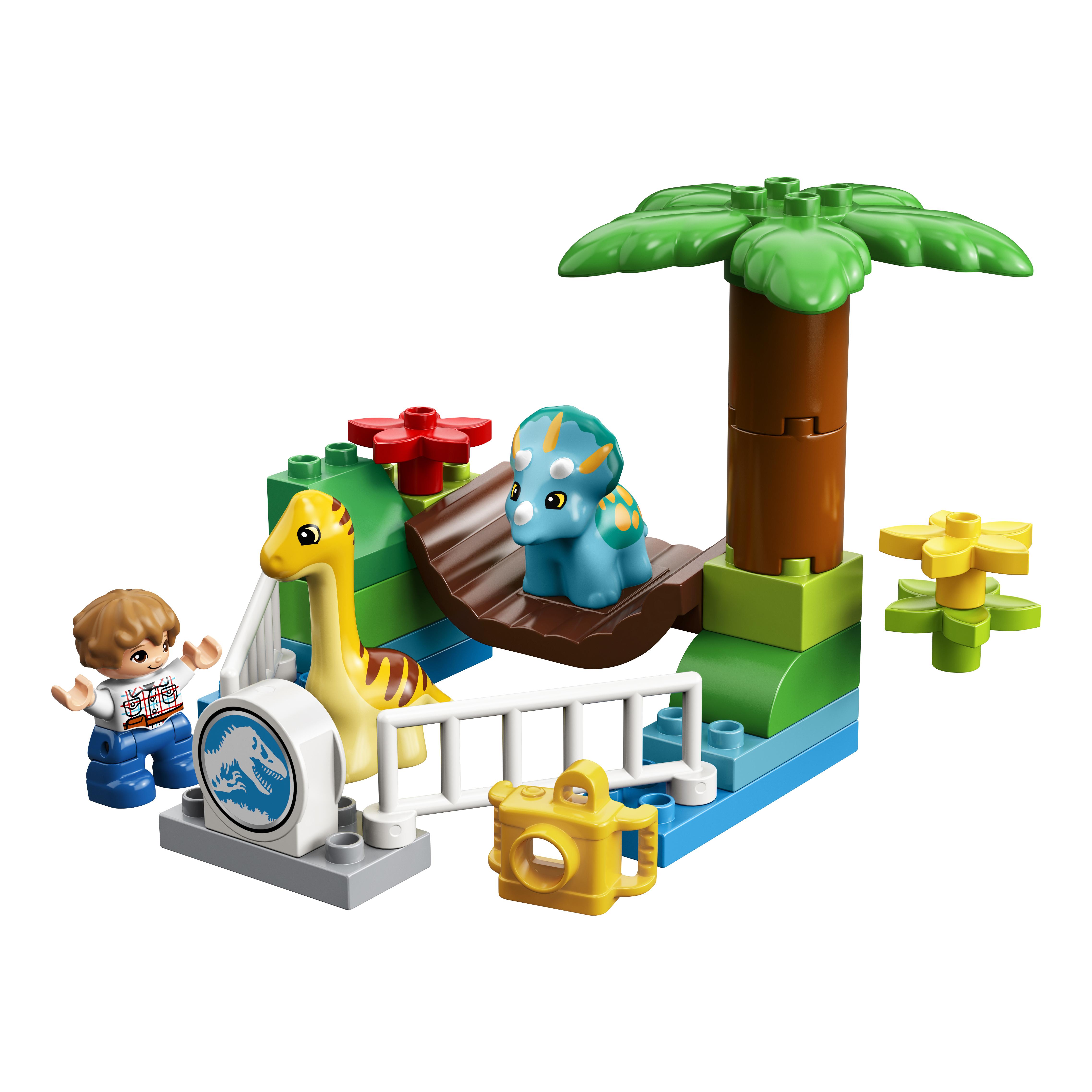Купить Конструктор lego duplo jurassic world парк динозавров 10879, Конструктор LEGO Duplo Jurassic World Парк динозавров 10879