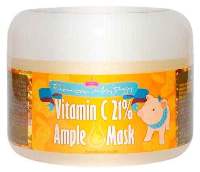 Купить Маска для лица Elizavecca разогревающая с витамином С, 100 г, Milky Piggy Vitamin C 21% Ample Mask