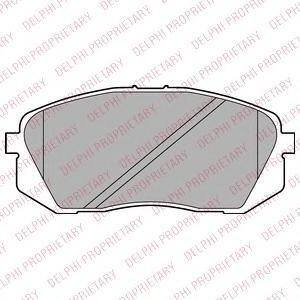 Тормозные колодки дисковые Delphi LP2294