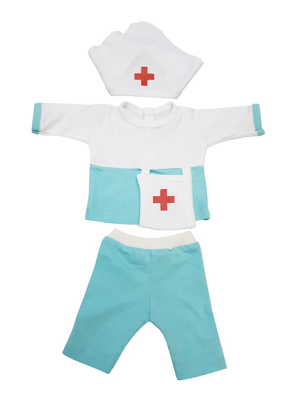 Набор одежды для кукол КоЛибри Костюм Медсестра Колибри 32 белый голубой фото