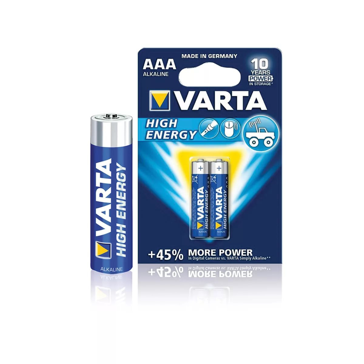 Батарейка VARTA High Energy/ Longlife Power LR03/AAA 2 шт