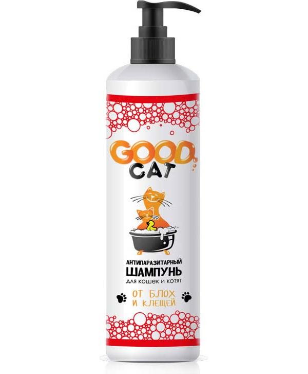 Антипаразитный шампунь для кошек и котят GOOD CAT, от блох и клещей, 250мл