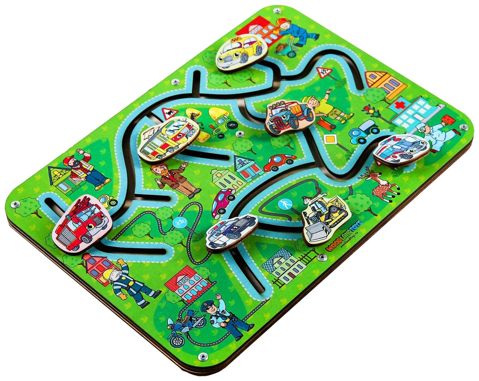 Купить Лабиринт Найди пару. Транспорт'' Woodland (Сибирский сувенир), Игрушки головоломки
