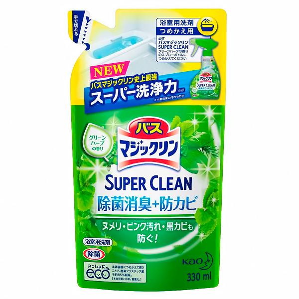 Моющее средство КAO Magiclean Super Clean для ванной комнаты с ароматом зелени 330 мл