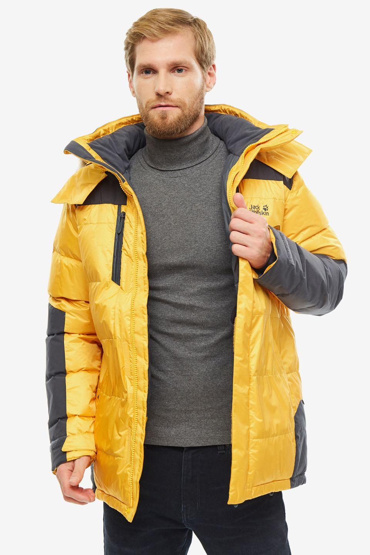 Пуховик мужской Jack Wolfskin 1201912-3802 желтый L.
