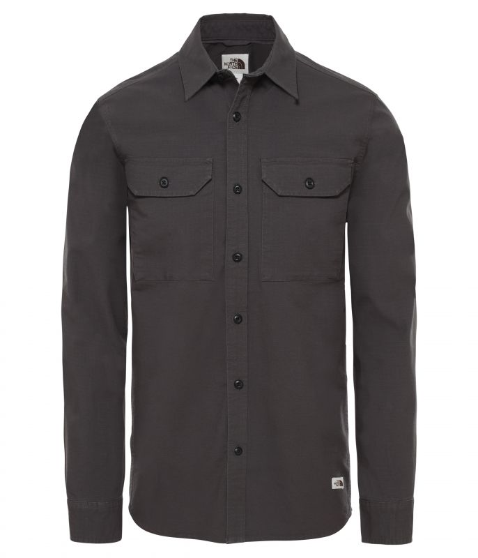 Рубашка The North Face LS Battlement Utility Shirt мужская темно-серая S
