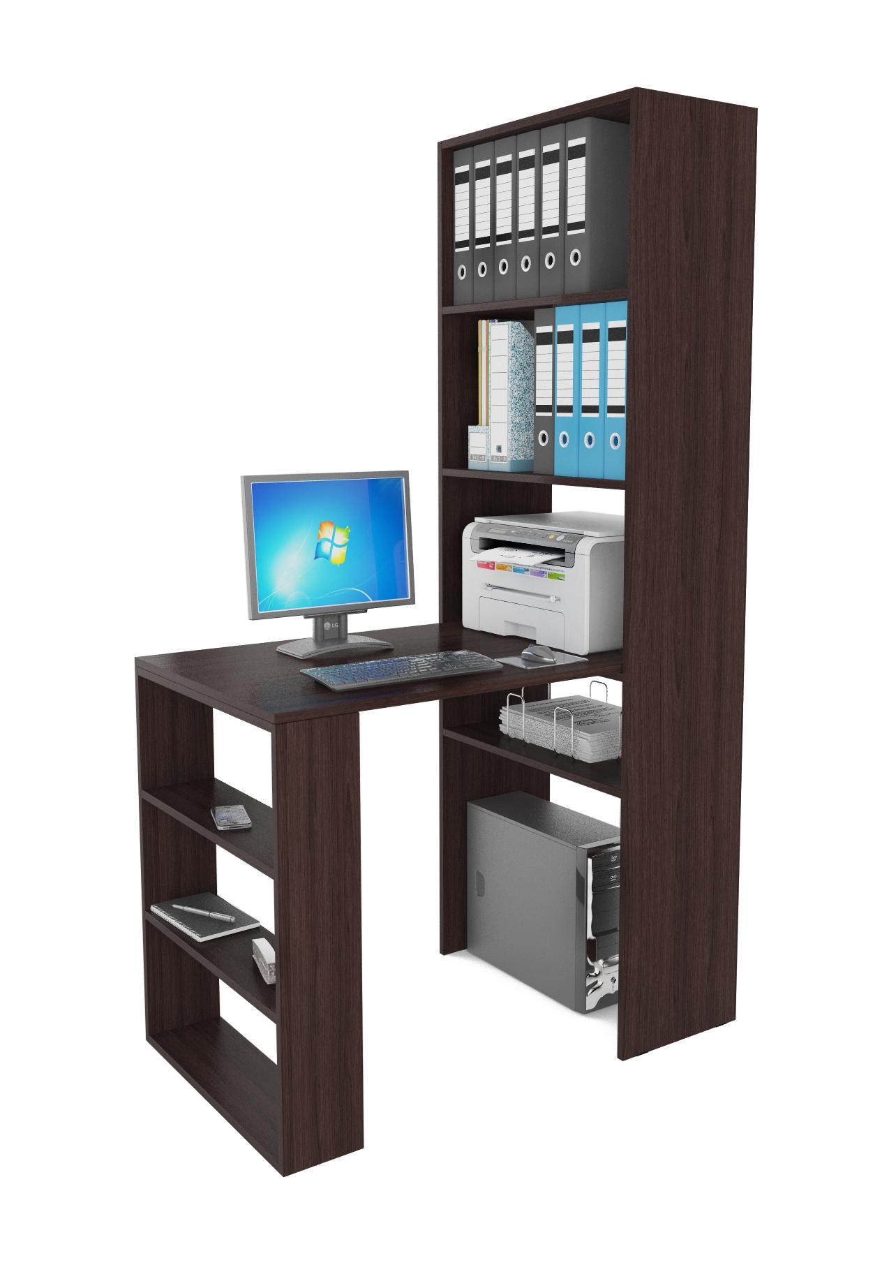 Компьютерный стол в комплекте МФ Мастер Рикс-4+Рикс-5 110x63,2x177, венге