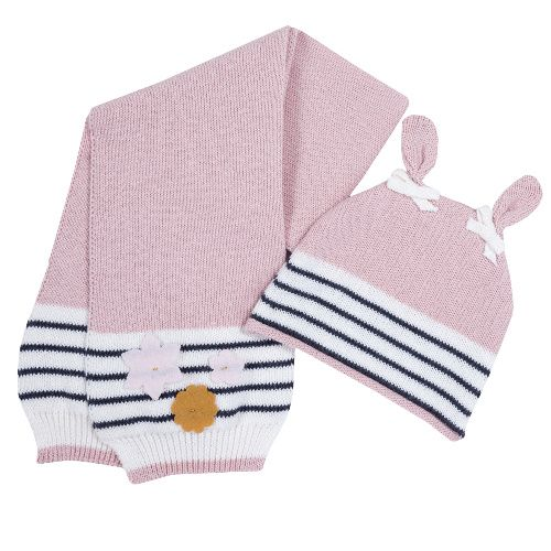 Купить Комплект шапка и шарф Chicco для девочек р.003 цвет розовый, Комплекты головных уборов для девочек