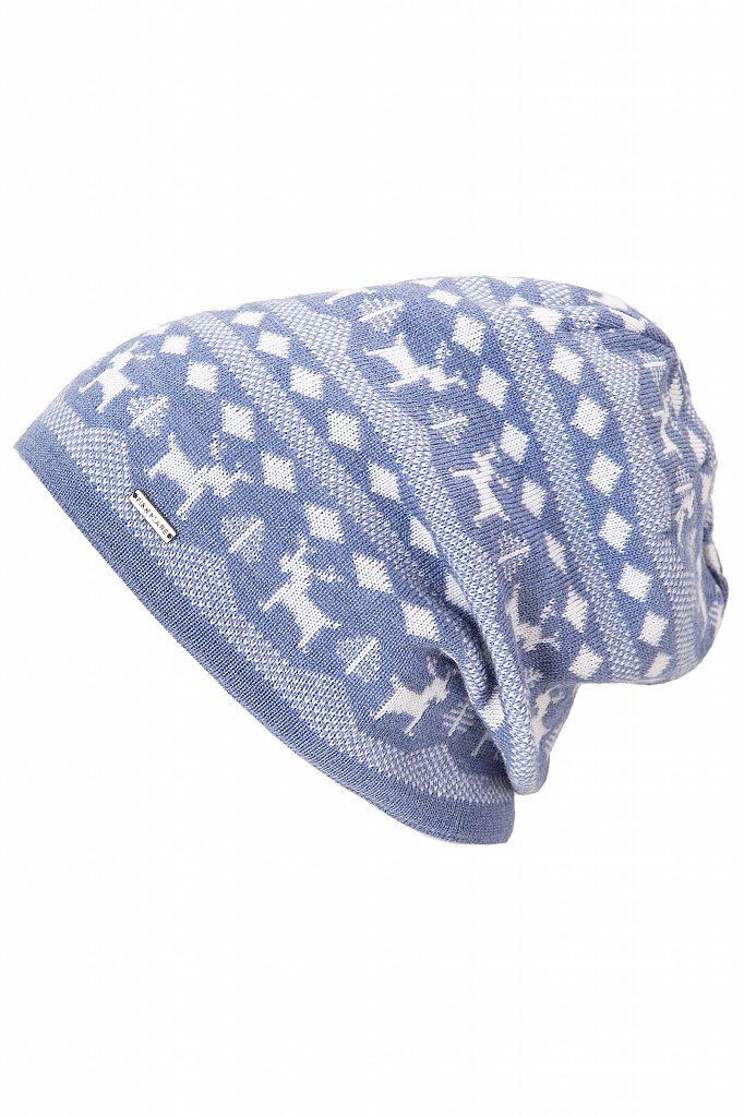 Купить KA18-71116, Шапка для девочки Finn Flare, цв. голубой, р-р. 54, Детские шапки и шарфы