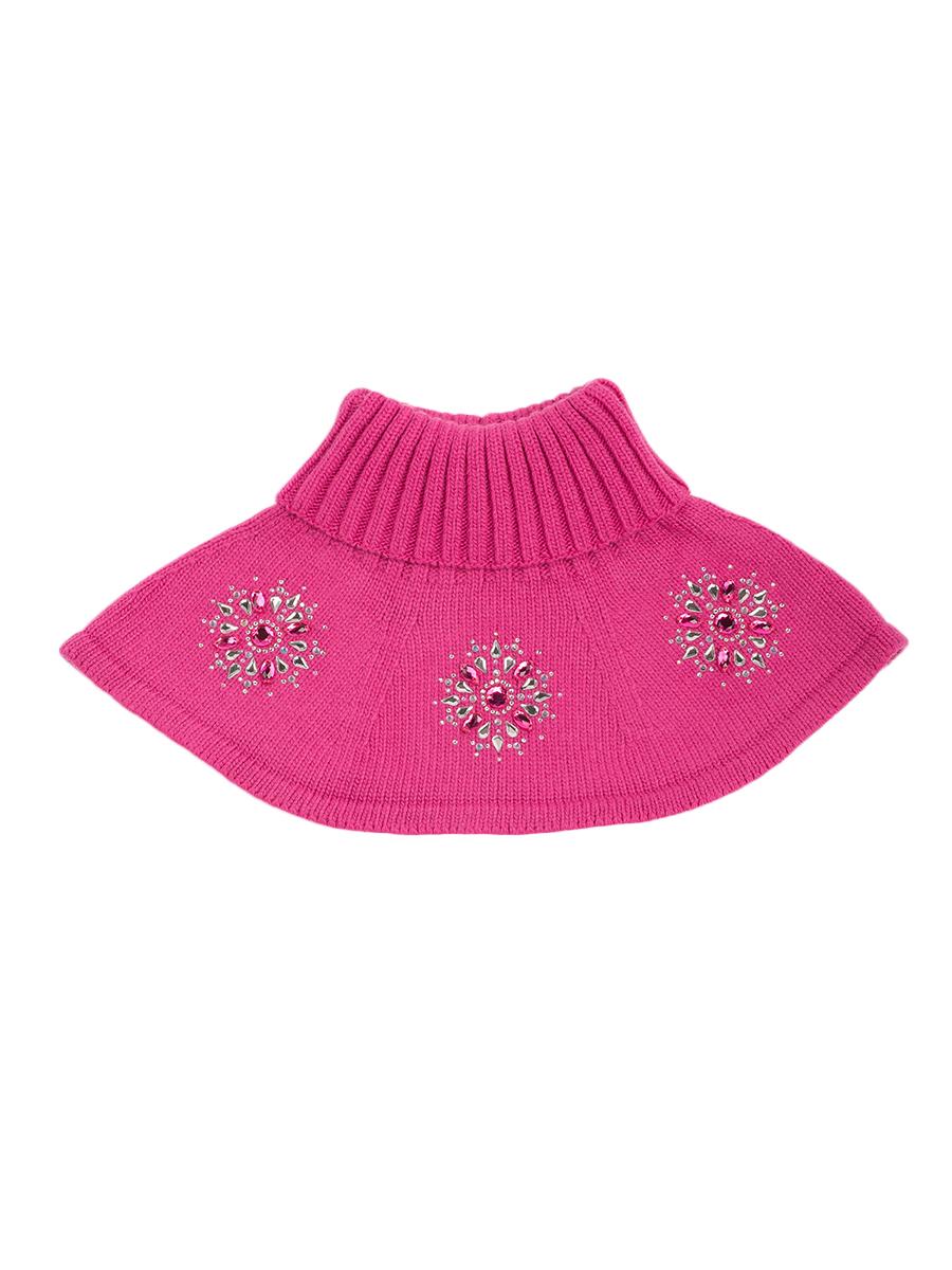Купить Шарф-воротник детский ALEKSA р. 27-33 цв. фуксия, Детские шапки и шарфы