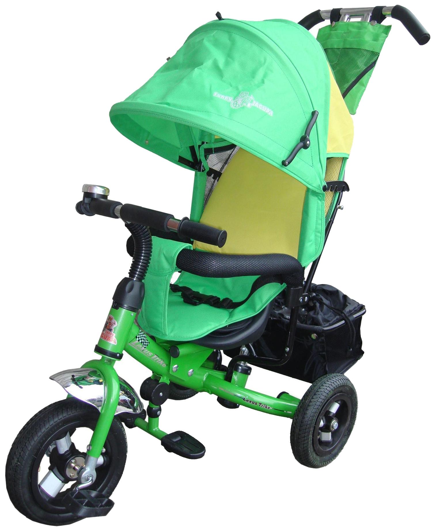 Купить Трехколесный велосипед Funny Jaguar Lexus Trike Next Pro Air зеленый, Детские велосипеды-коляски