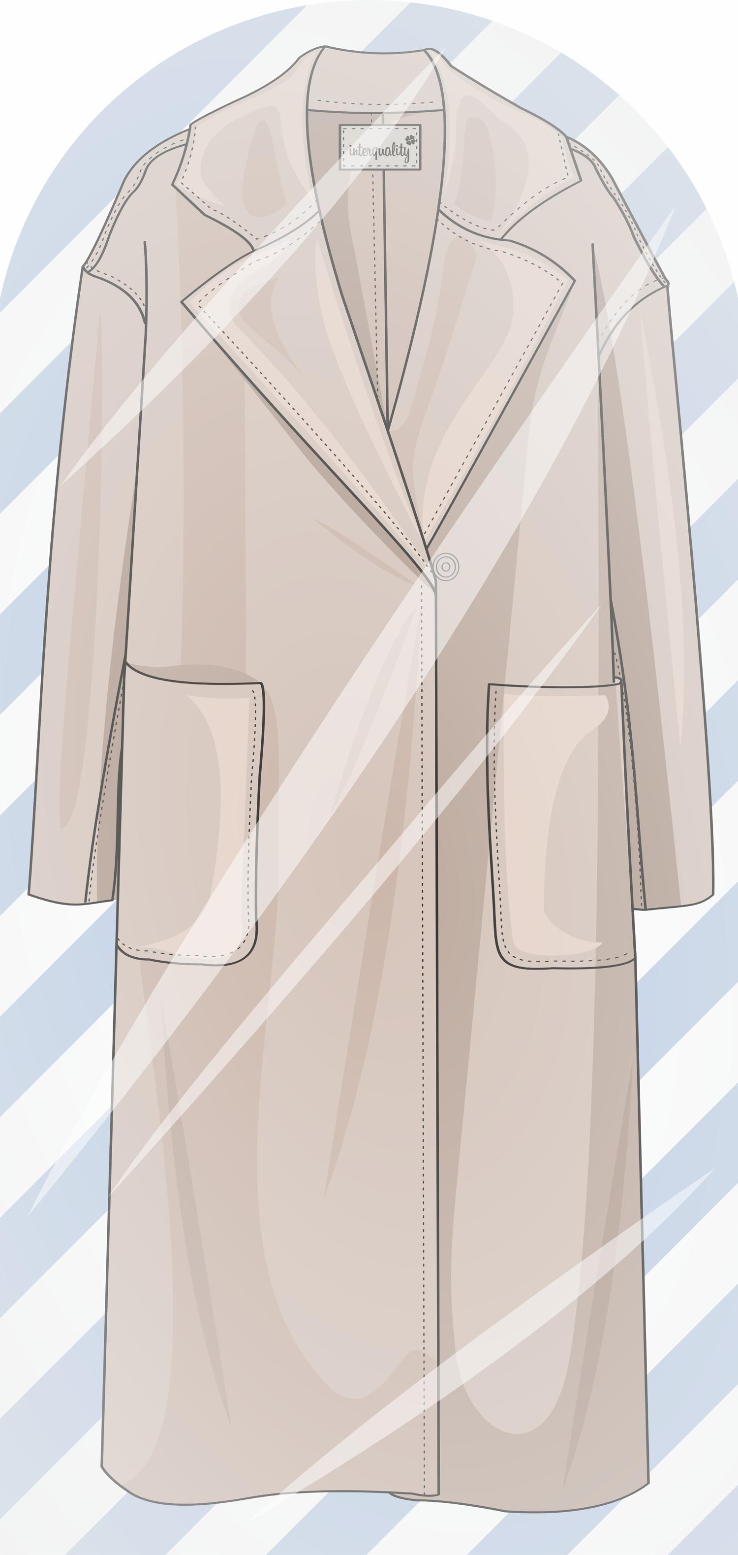 Чехол для одежды 120х55 Пальто женское IQ Komfort 8040421