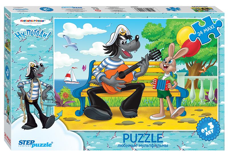 Купить Пазл Step Puzzle maxi 24 детали Ну, погоди! - 2, Пазлы