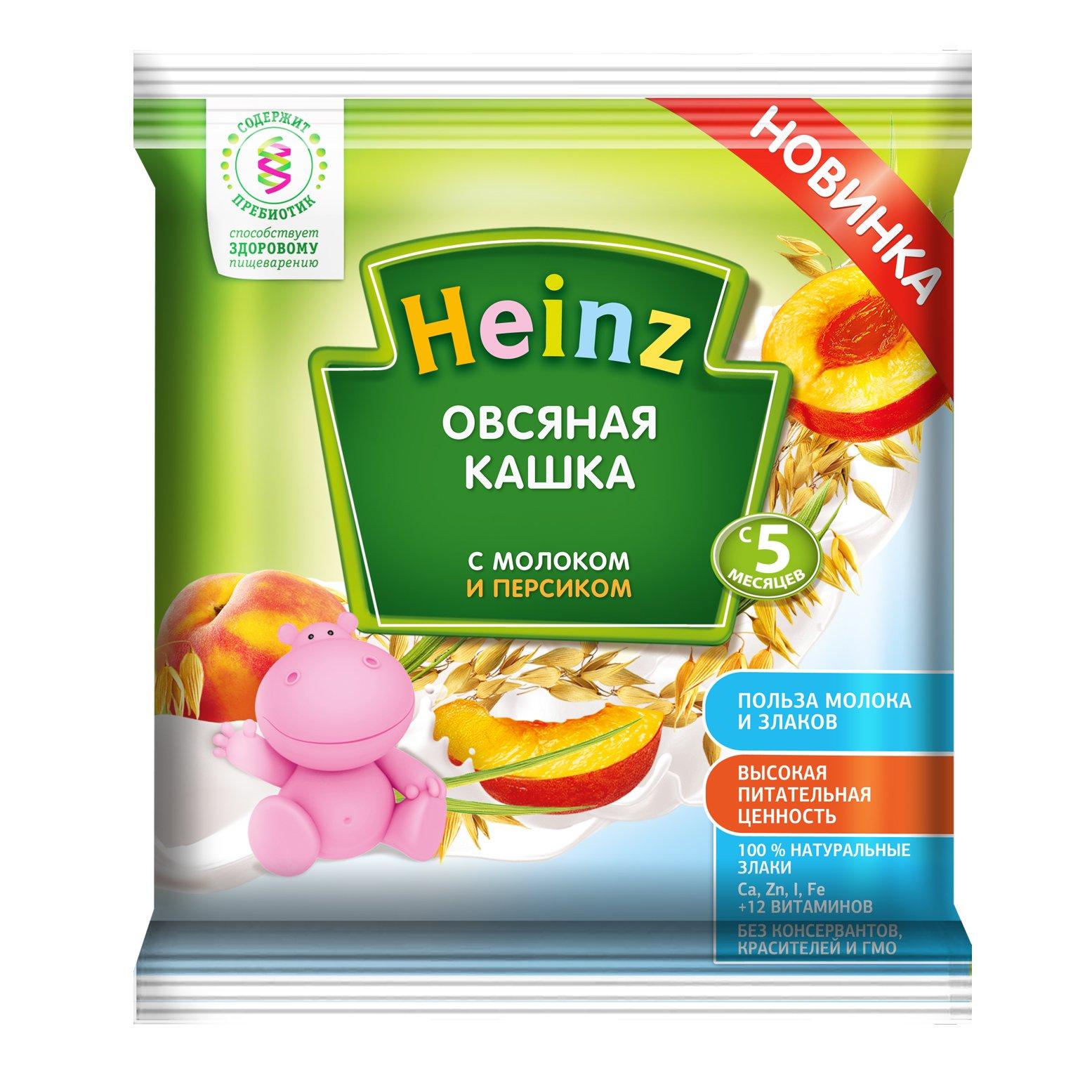 Каша молочная Heinz Овсяная с персиком