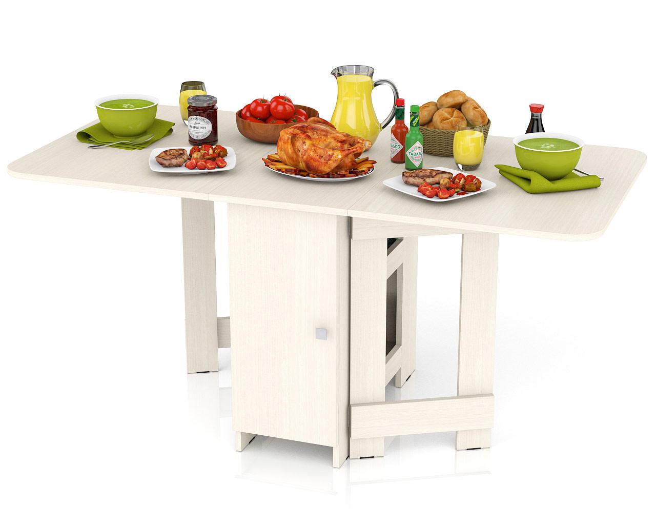 Кухонный стол Мебельный Двор Стол-книжка обеденный СО-03 дуб 163х80х75 см дуб фото